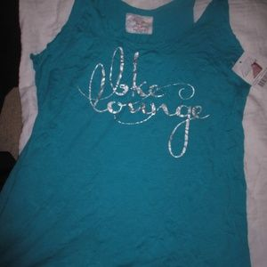 NEW bke lounge size LARGE teal green tank top
